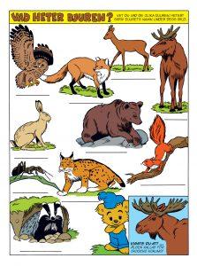 Bamse tema djur i skogen