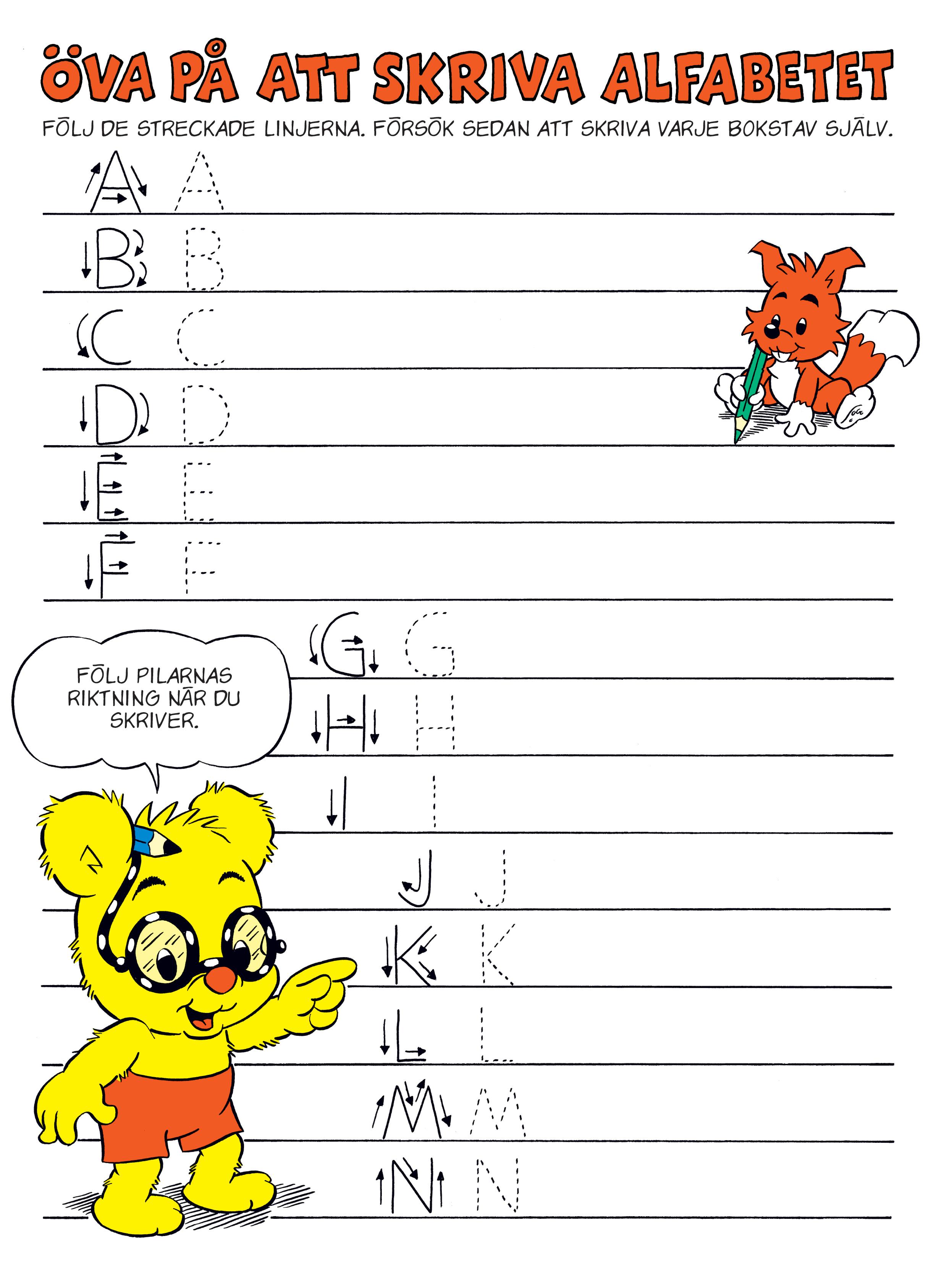 Lite Alfabetet Bamse Se