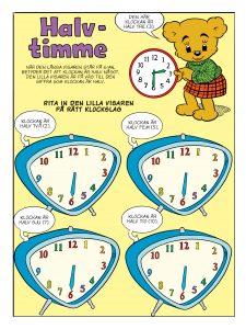 Bamse tema klockan