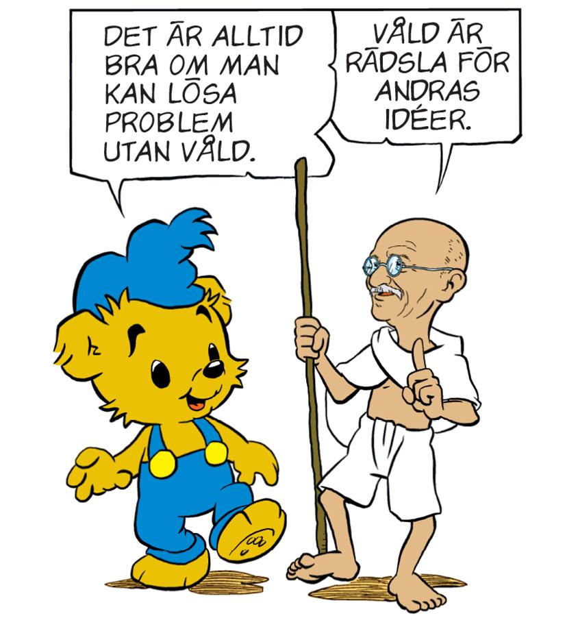 Bamse träffar Gandhi