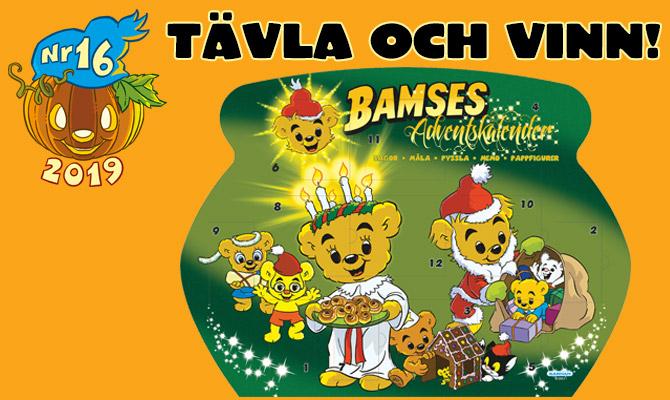 Vinn Bamses adventskalender!