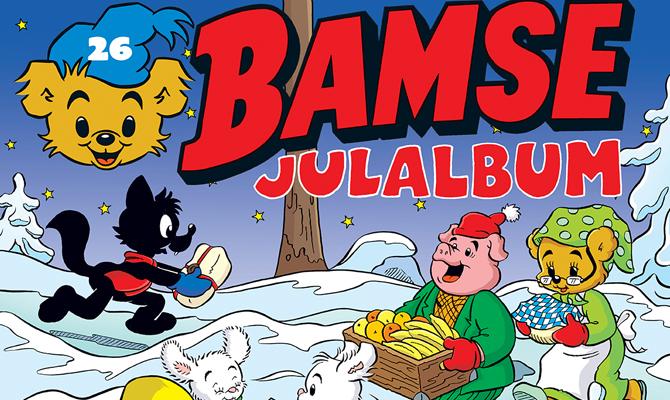 Omslag till Bamses Julalbum 2016
