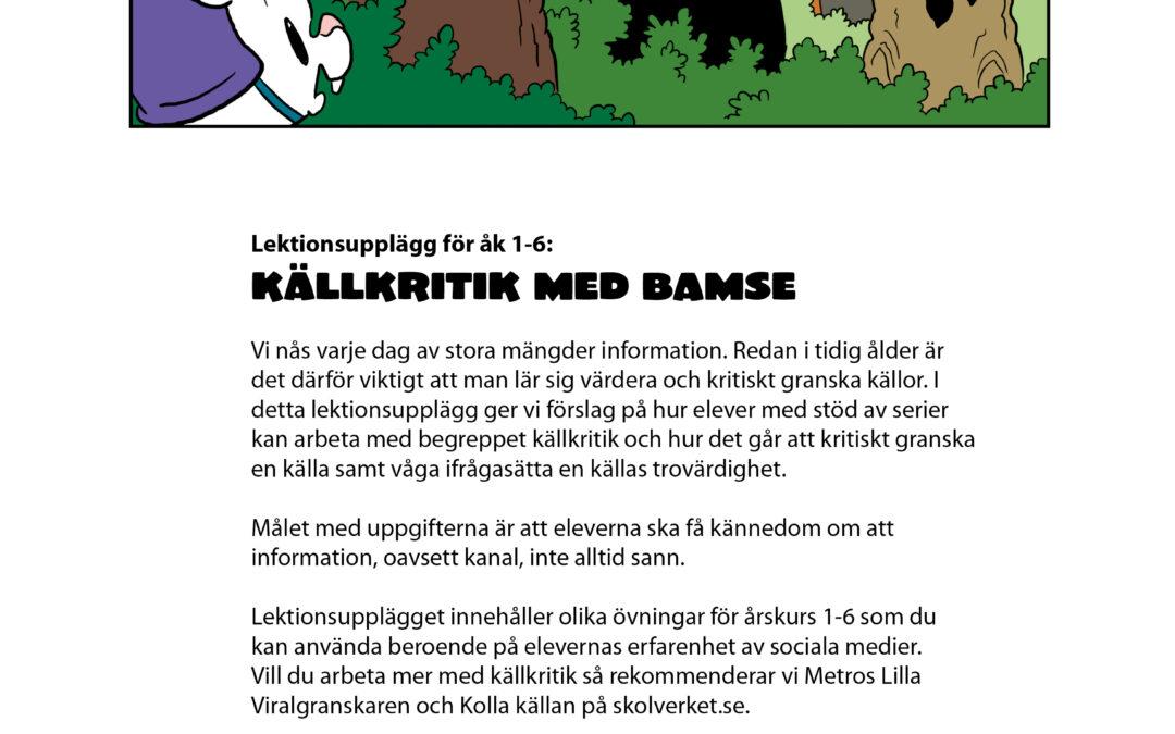 Källkritik med Bamse – underlag att ladda ner