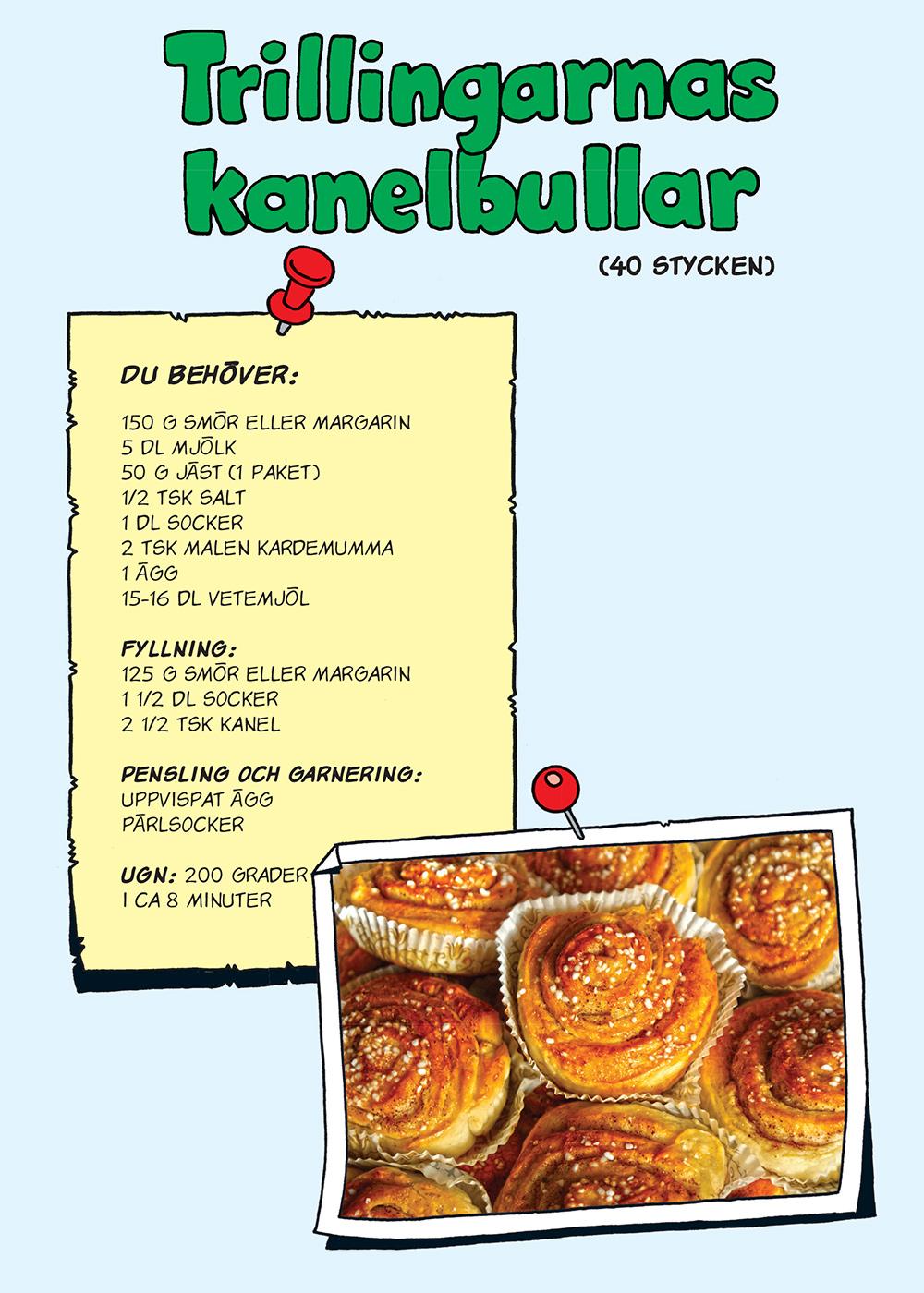 Bamase kanelbullar recept