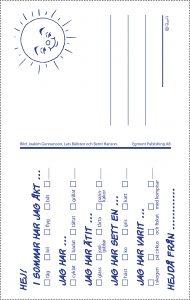 Bamse vykort baksida