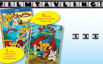 Film-tävling där du kan vinna Bamsefilmerna!