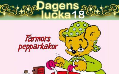 Julkalender 18 december: Farmors pepparkakor