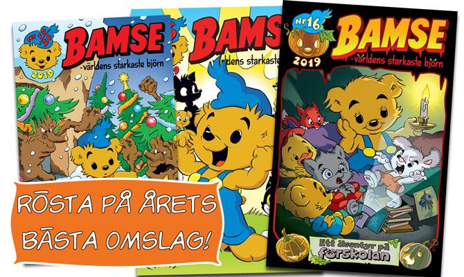 Rösta på bästa Bamse-omslaget 2019!