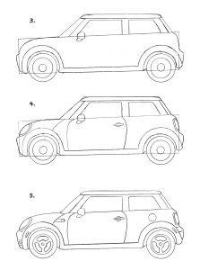 Rita en bil