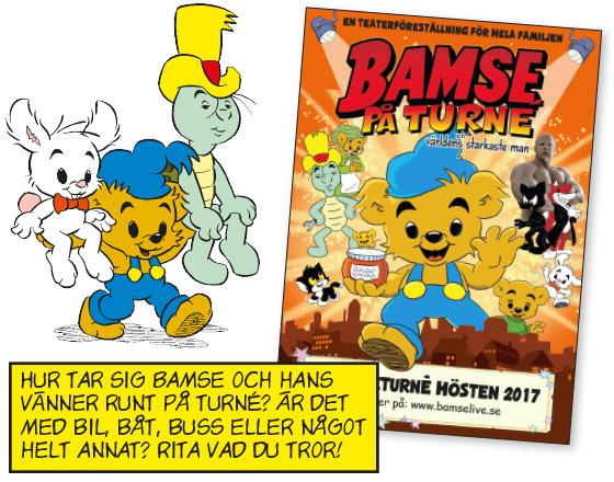 Vinn biljetter till Bamse på turné!