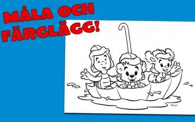 Målarbilder med Bamse och hans vänner