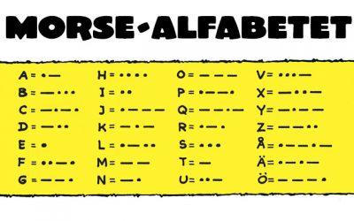 Bamses skola om Morse-alfabetet