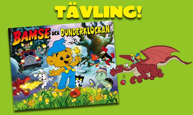 Vinn Bamse och Dunderklockan-boken